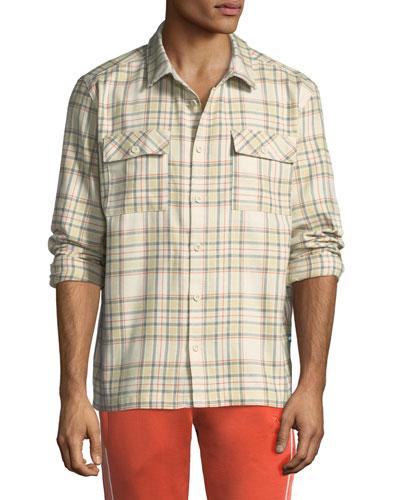 Men's x Big Sean Back-Graphic Check Shirt