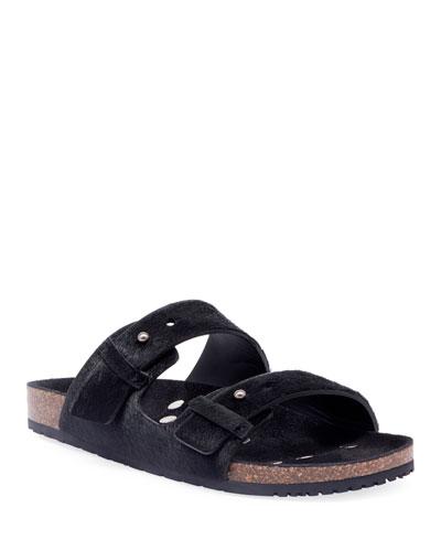 Men's Jimmy 2Bridle Calf-Hair Sandals