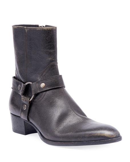 Men's Wyatt Leather Harness Boots