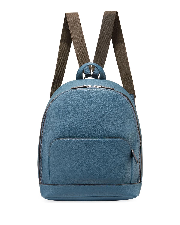 7640cee3c3d8 Giorgio Armani Men s Tumbled Calf Leather Backpack