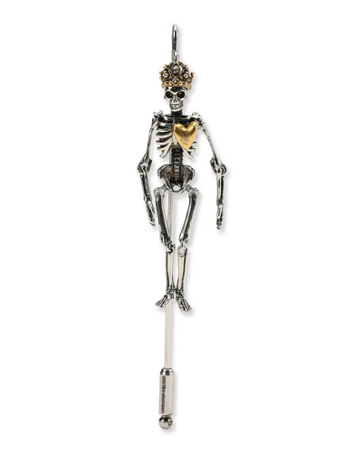 Men's Queen Skeleton Lapel Pin