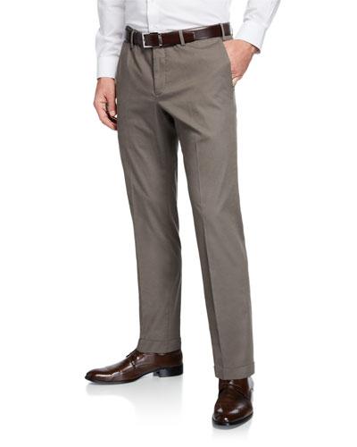 Micky Trim-Fit Cotton/Silk Pants