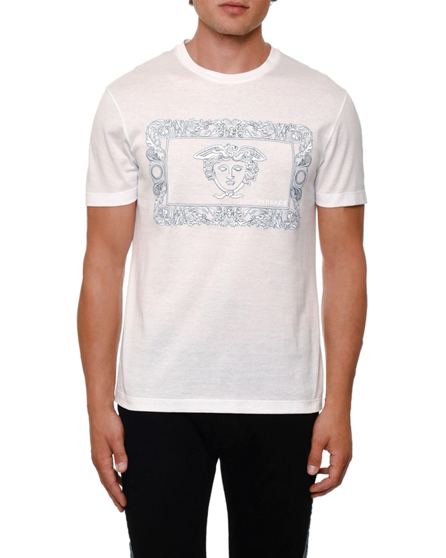 77cfa2eb Versace Men's Baroque Medusa Logo T-Shirt   Neiman Marcus