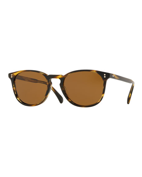 Oliver Peoples Men's Finley Esq. Universal-Fit Round Sunglasses
