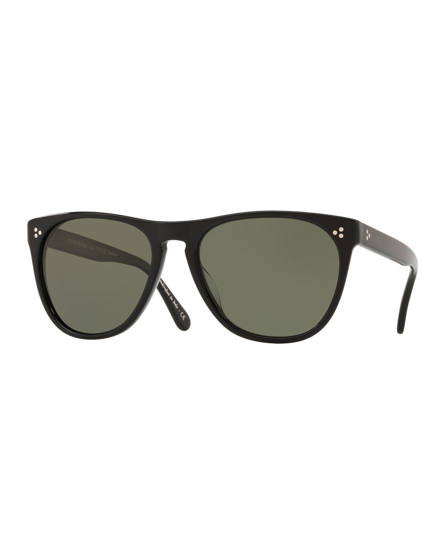 cc1374c6527 Oliver PeoplesMen s Daddy B Square Acetate Polarized Sunglasses - Black