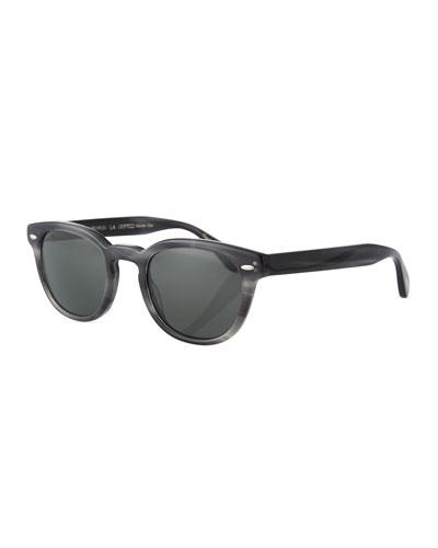 Men's Sheldrake Round Polarized Sunglasses - Charcoal Tort