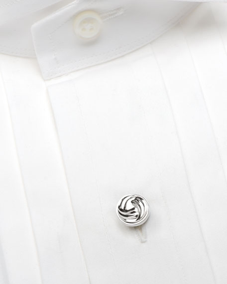 CUFFLINKS INC. Bracelets MODERN KNOT STERLING SILVER CUFF LINKS & STUD SET