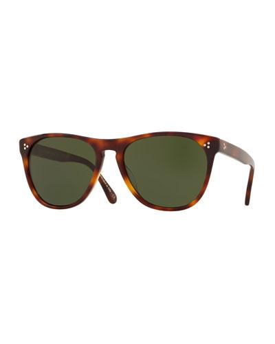 Men's Daddy B Square Acetate Sunglasses - Dark Mahogany