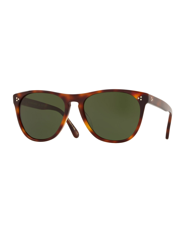 96ac710c259 Oliver PeoplesMen s Daddy B Square Acetate Sunglasses - Dark Mahogany