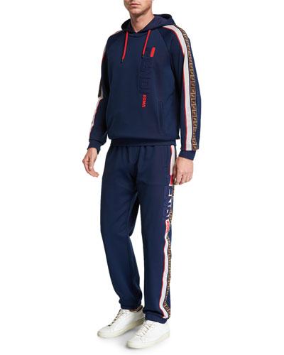 Men's Fendi Mania Two-Piece Side-Stripe Jersey Track Suit