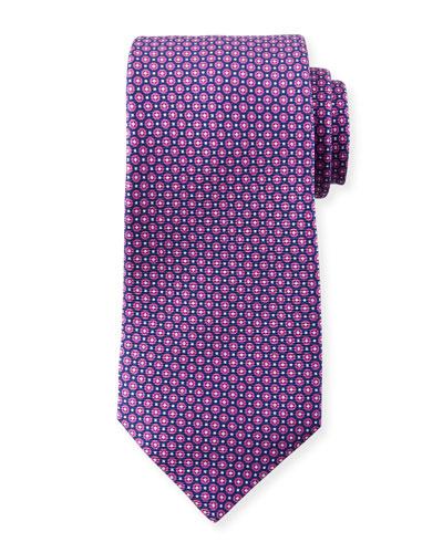 Men's Micro Circles Tie, Purple