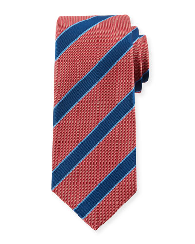 Men's Textured Framed Stripe Tie