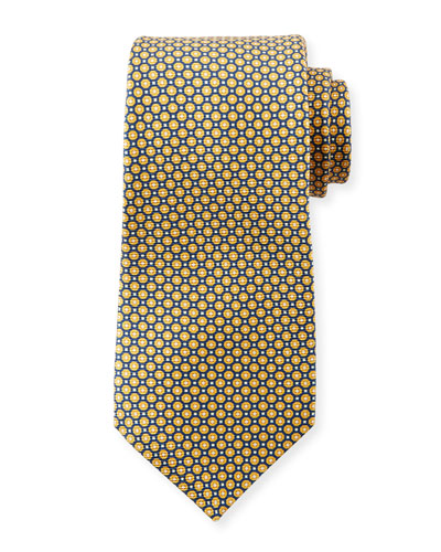 Men's Micro Circles Tie  Yellow