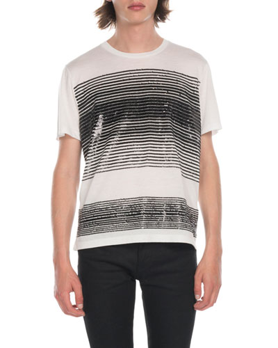 Men's Sequin Panel T-Shirt