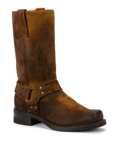 Men's Suede Combat Boots