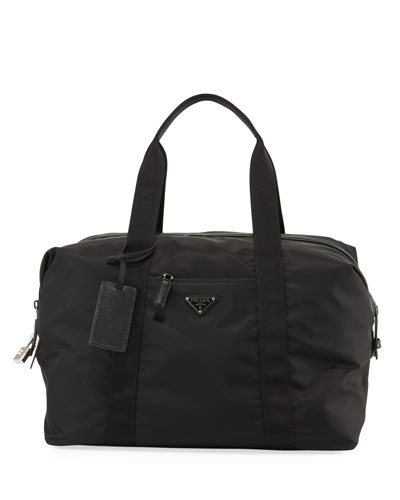 Men's Nylon & Saffiano Duffel Bag