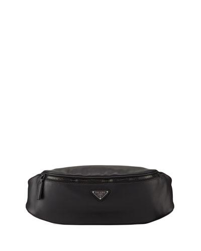 Men's Leather Belt Bag/Fanny Pack