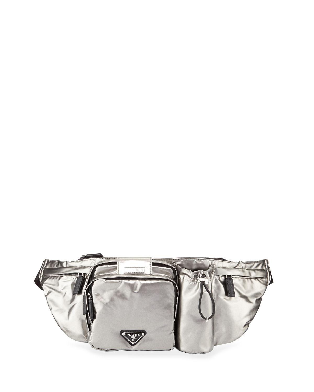 aed028bd1f0d Prada Men's Nylon Pocket Belt Bag   Neiman Marcus