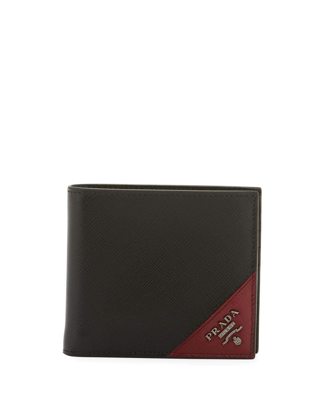 c00405df2c31 Prada Men's Saffiano Leather Wallet | Neiman Marcus