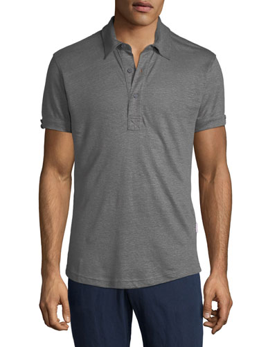 Men's Sebastian Tailored Linen Polo Shirt
