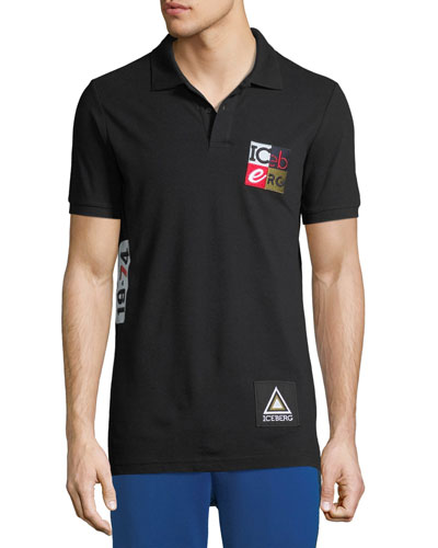 Men's Vintage Cube Logo Polo Shirt