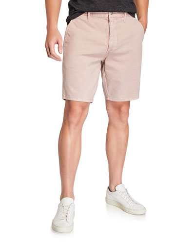Men's Flat-Front Twill Casual Shorts