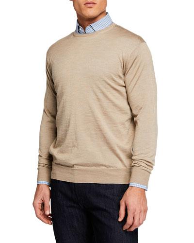 Men's Wool/Silk Crewneck Sweater