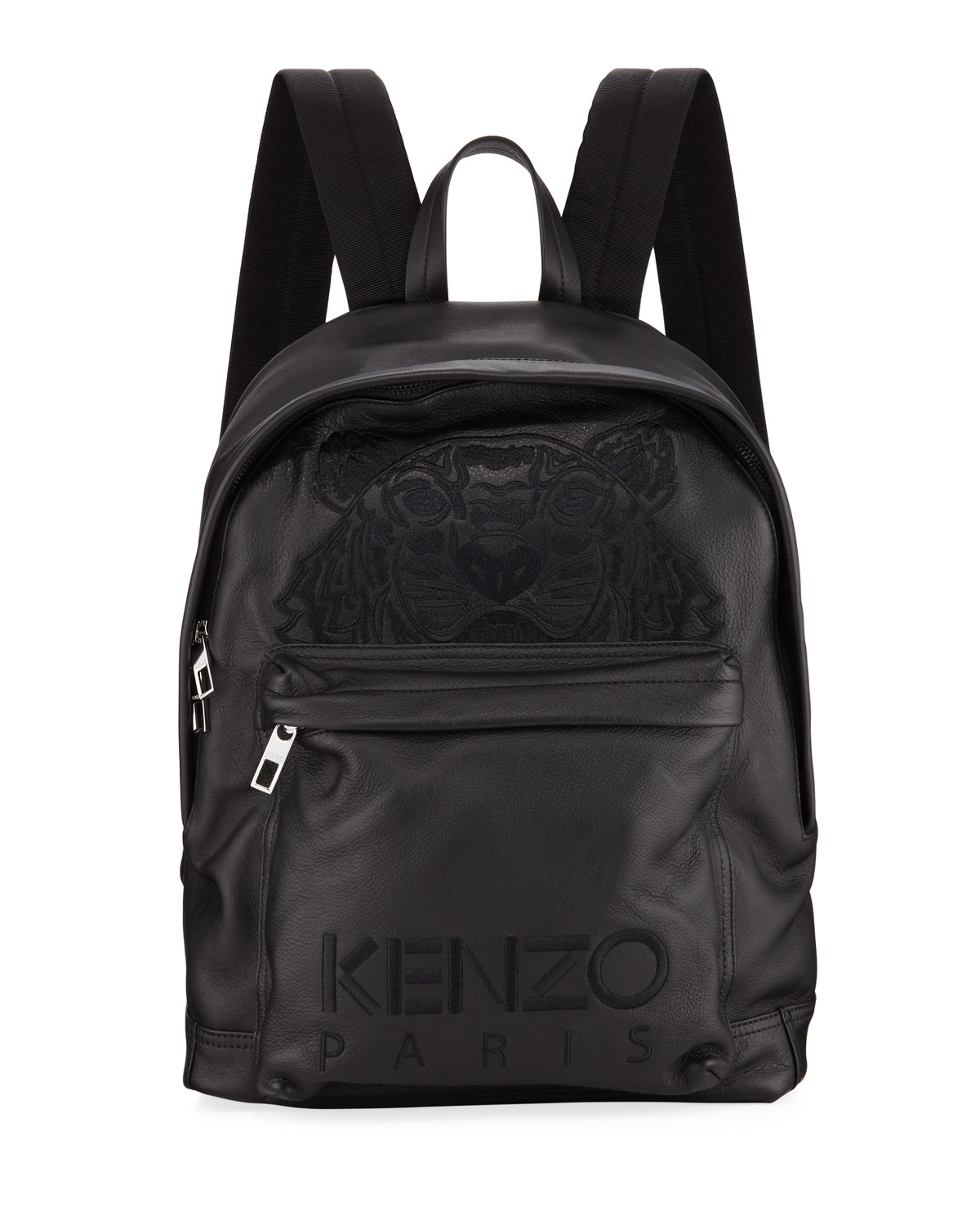 Kenzo Men s Tiger-Embroidered Leather Backpack  74bf866728dfd