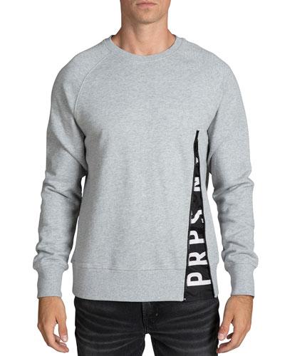 Men's Logo-Detail Fleece Sweatshirt
