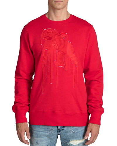 Men's Cherub Applique Sweatshirt