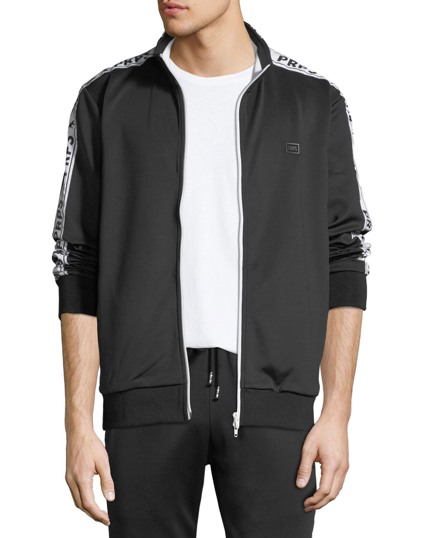 prps mens logo tape track jacket neiman marcus