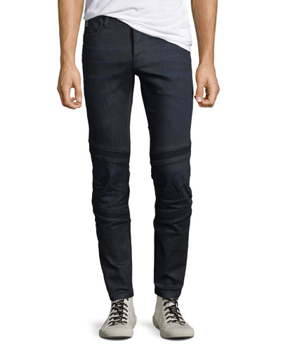 Men's Motac Deconstructed Visual Denim Slim Jeans