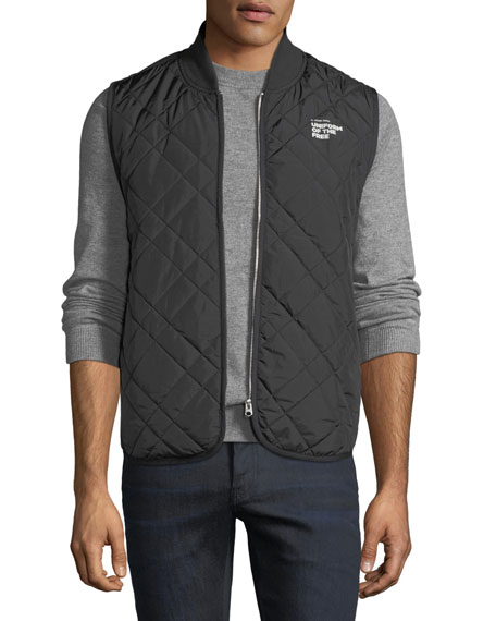 """G-STAR Men'S Blake """"Uniform Of The Free"""" Quilted Vest in Black"""