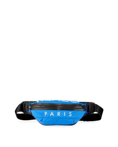 Men's Nylon Logo-Print Belt Bag/Fanny Pack