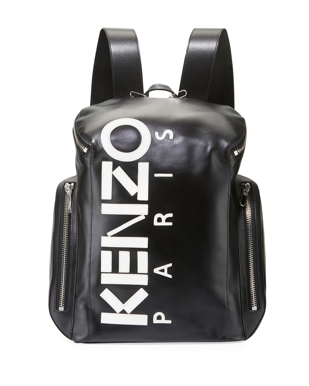 30fe783a931 Kenzo Men s Logo Leather Backpack