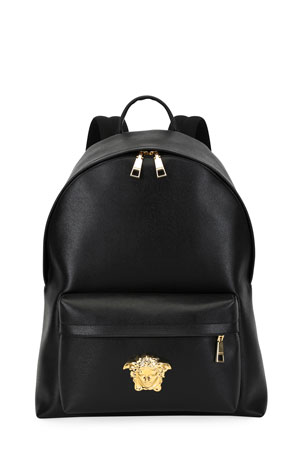 Versace Men's Leather Medusa Backpack