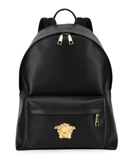 Versace Men's Leather Medusa Backpack
