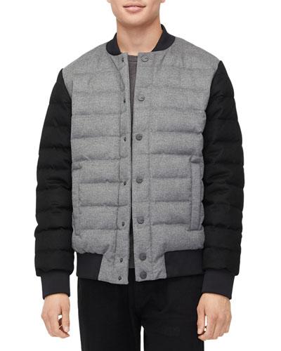 Men's Gavin Wool Hooded Bomber Jacket