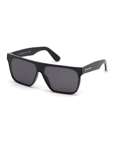 Men's Wyhat Square Plastic Sunglasses