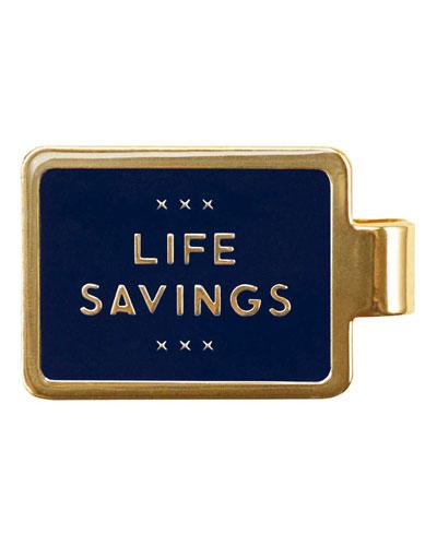 Enamel-Inset Life Savings Money Clip