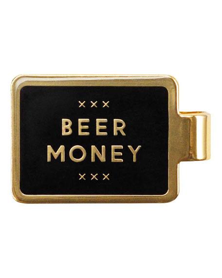"Easy Tiger Enamel-Inset ""Beer Money"" Money Clip"