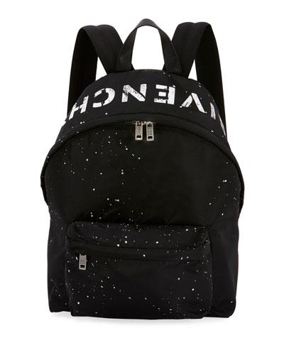 Men's Urban Splatter Nylon Zip-Around Backpack
