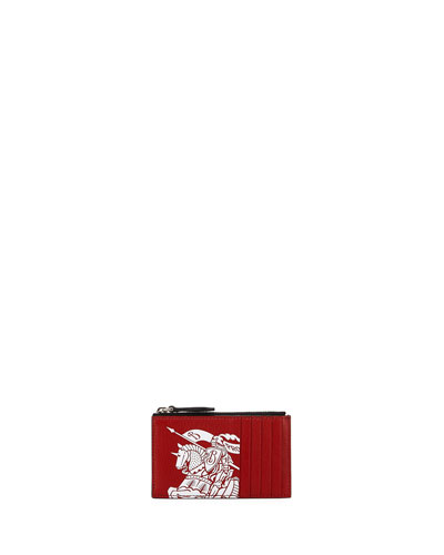 Men's Alwyn Logo-Print Zip-Top Card Case
