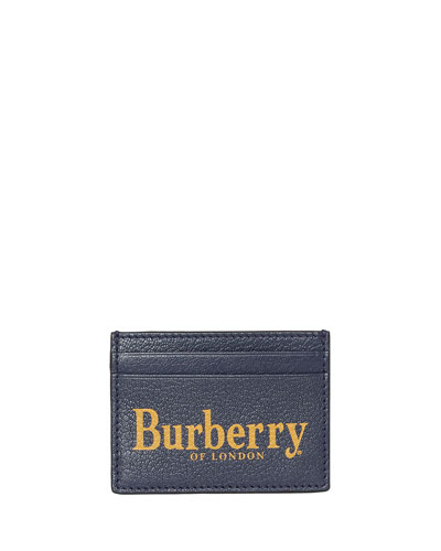 Men's Sandon Logo-Print Leather Card Case