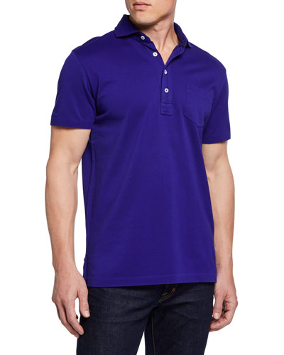 Men's Pique Pocket Polo Shirt  Royal