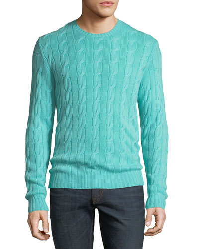 Men's Cashmere Cable-Knit Sweater