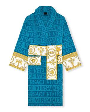 Versace Men s Barocco Sleeve Robe 77f7c675b17a