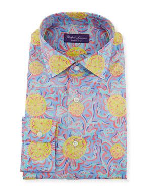 0b3e9024bea Ralph Lauren Men s Choppa Print Aston Dress Shirt