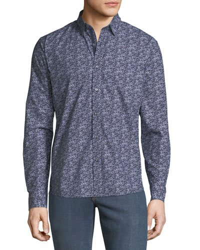 Men's CoolMax Graphic Slim Sport Shirt