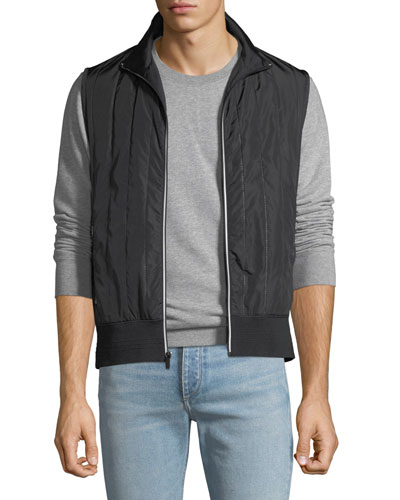 Men's Quilted Chenille Zip-Front Vest